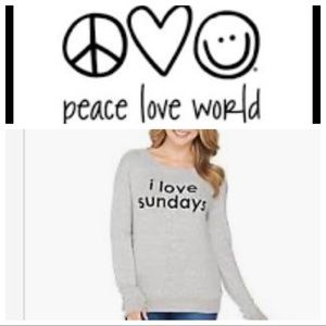Peace Love World Tops - Peace love world sweatshirt